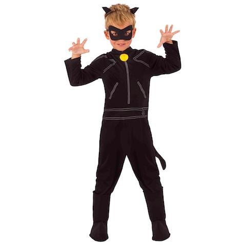 disfraz infantil de cat noir de la serie Ladybud para Carnaval