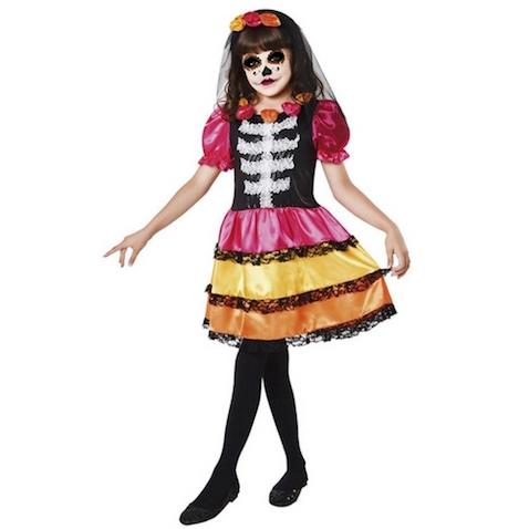 Disfraz infantil de Catrina de Coco película de Disney Pixar