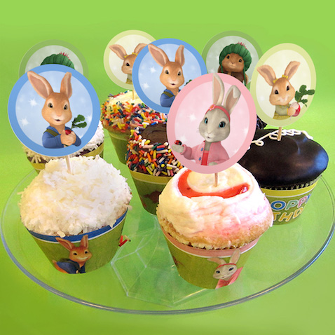 Cupcake tuppers de Peter Rabbit para imprimir gratis
