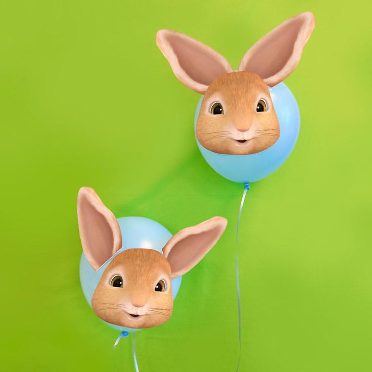 Haz globos de Peter Rabbit con esta plantilla para imprimir gratis