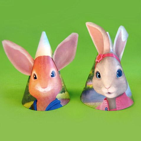 Gorros de fiesta de Peter Rabbit para imprimir