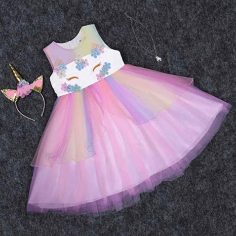 Disfraz de unicornio para niña accesorios