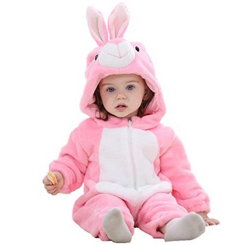 Disfraz de conejo rosa para bebés desde 2 meses hasta 2 años