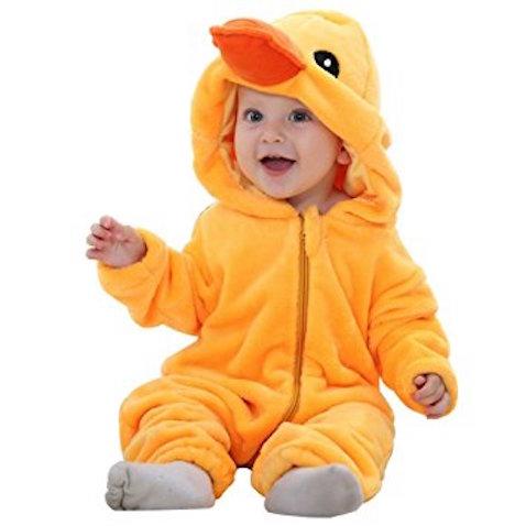 disfraz para bebé de pato con gorro y pico