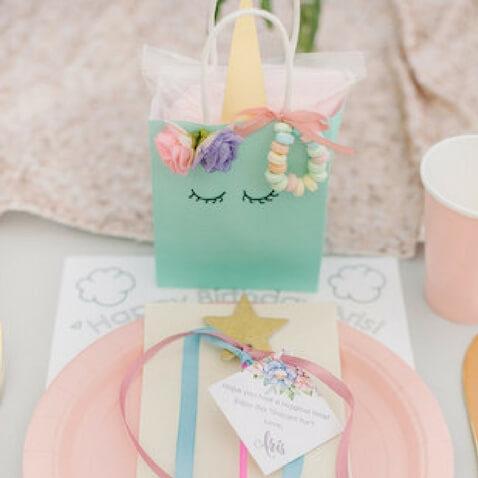 fiesta de cumpleaños de unicornios bolsas de chuches