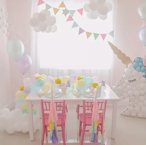 fiesta de cumpleaños unicornio decoración para mesa