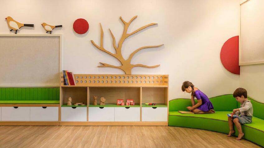 Espacio para el juego imaginativo y el aprendizaje infantil guardería innovadora