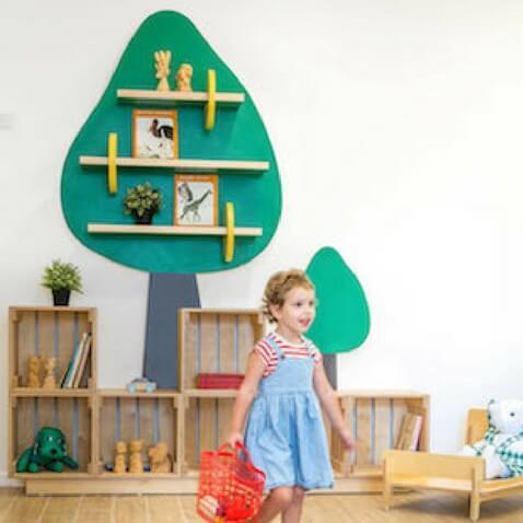 guardería infantil con zona lectura