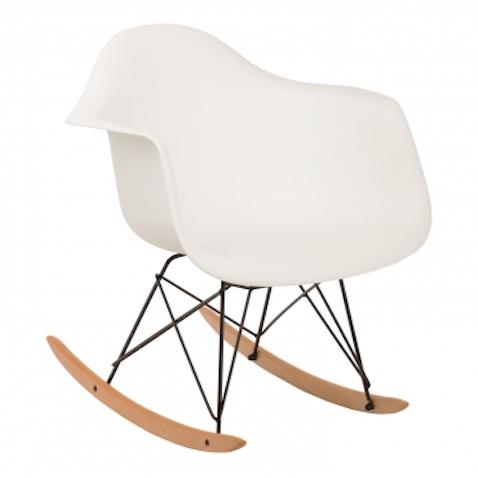 muebles infantiles de estilo nórdico silla mecedora