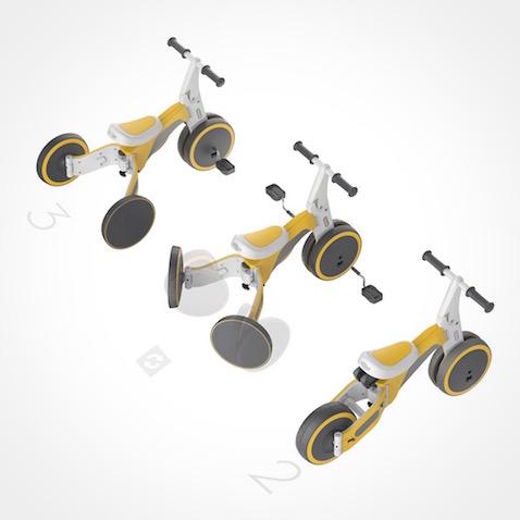 Triciclo TF1 que se convierte en bicicleta