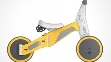 Triciclo que se transforma en bicicleta