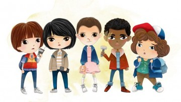 Calendario infantil de la serie Stranger Things