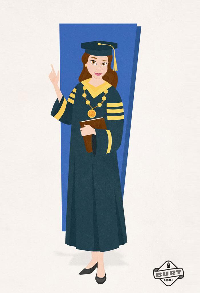 Bella la Princesa de Disney trabaja en una Universidad