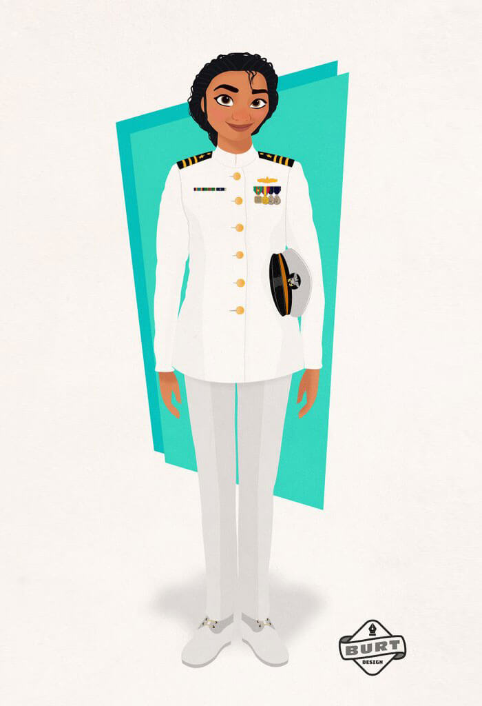 Moana Princesa Disney rango destacado en la Marina