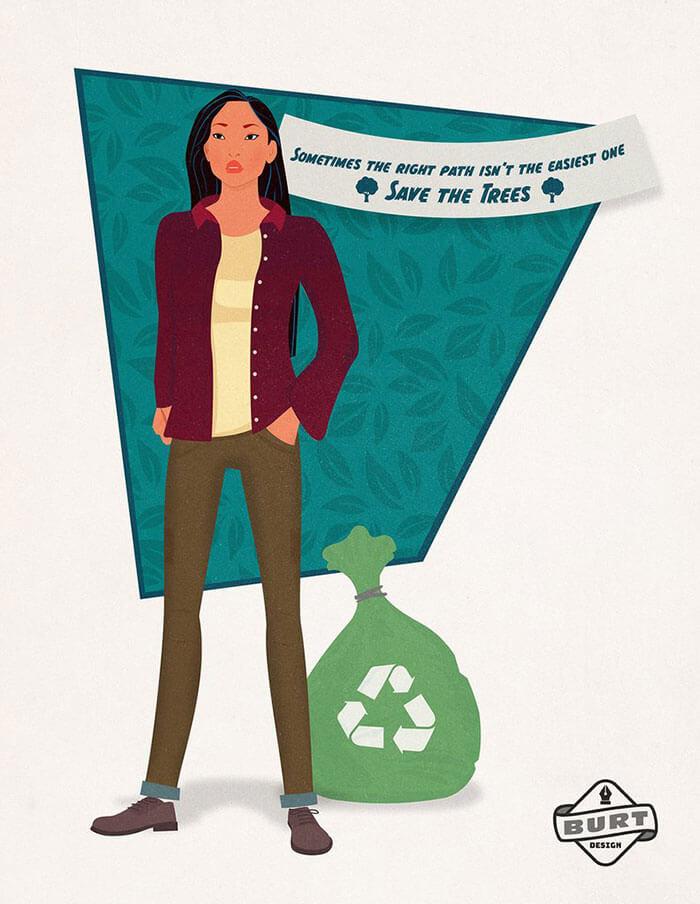 Pocahontas Princesa Disney colabora en una ONG para proteger al Medio Ambiente
