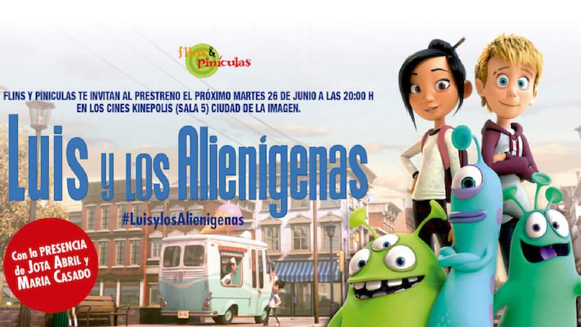 """gana entradas en el sorteo para la película """"Luis y los Alienígenas"""""""