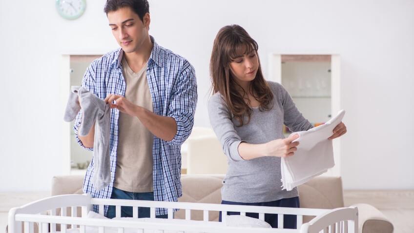 síndrome de nido arreglar la habitación bebé tercer trimestre embarazo