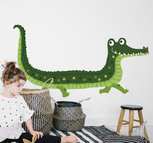 vinilo infantil cocodrilo verde oscuro
