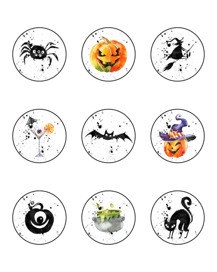 Cupcake Toppers para imprimir gratis para Halloween