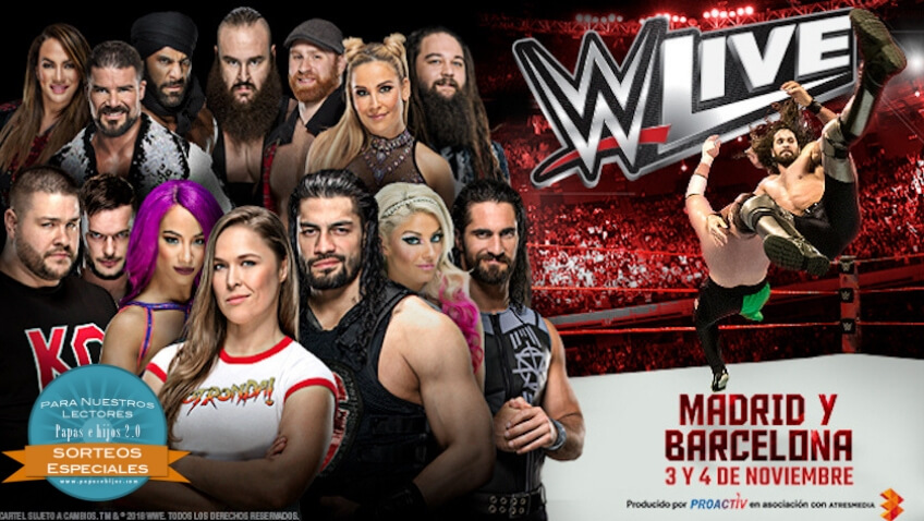 Sorteo Entradas Espectáculos Live Events de WWE Madrid y Barcelona