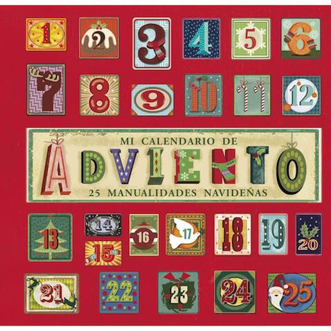 Calendario de Adviento con 25 manualidades navideñas para niños