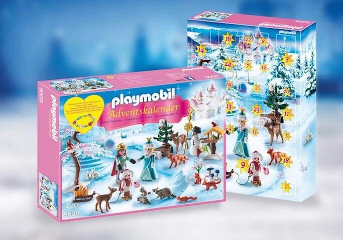 Calendario de adviento para Navidad de Playmobil de pista de patinaje sobre hielo