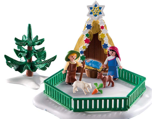 Escena de la Natividad de Playmobil para niños