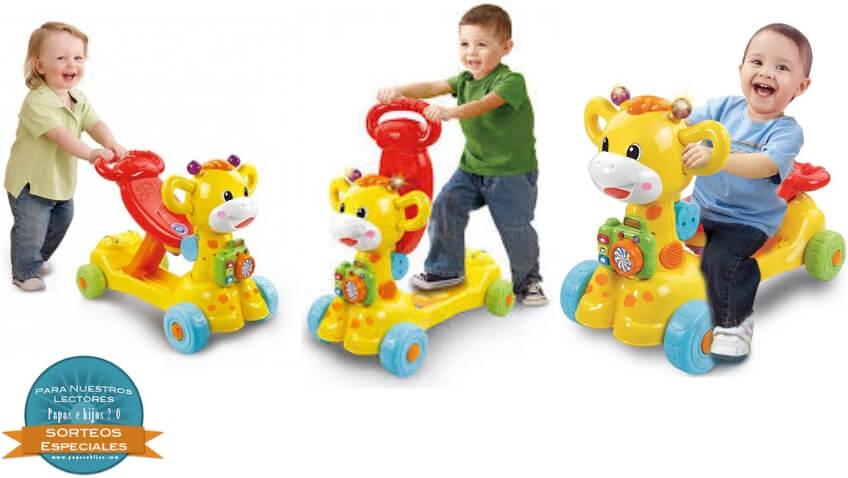 Jirafa scooter de VTech correpasillo evolutivo 4 en 1 para niños a partir de 12 meses
