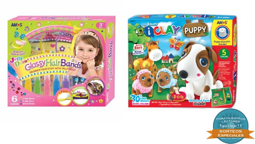 Kits de manualidades infantiles de pintura y arcilla para niños
