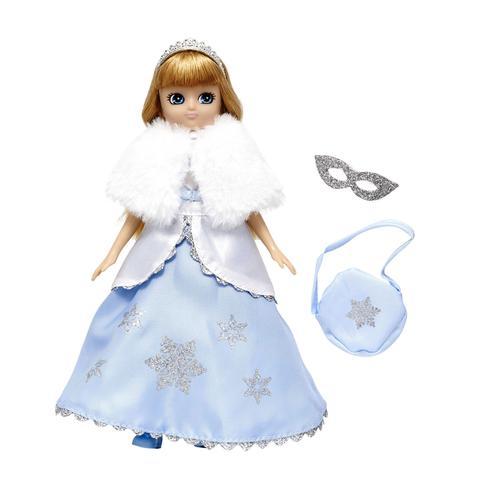 Muñeca Lottie Reina del Hielo vestido fiesta