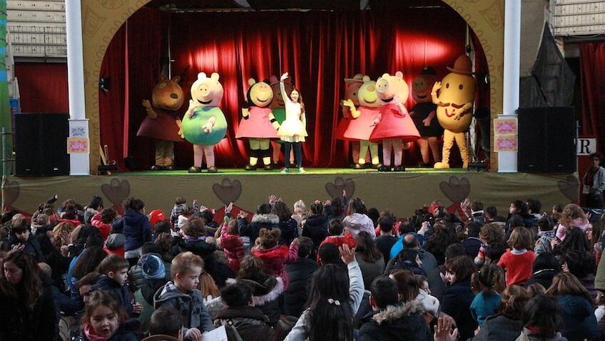 Espectáculo de Peppa Pig y los principales personajes de esta serie de televisión