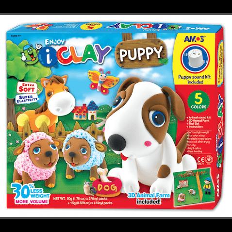 perro hecho de arcilla de polimerica i clay para niños 4 años