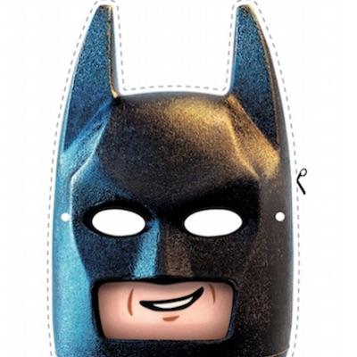 Mascara de LEGO Batman Lego película 2 para imprimir