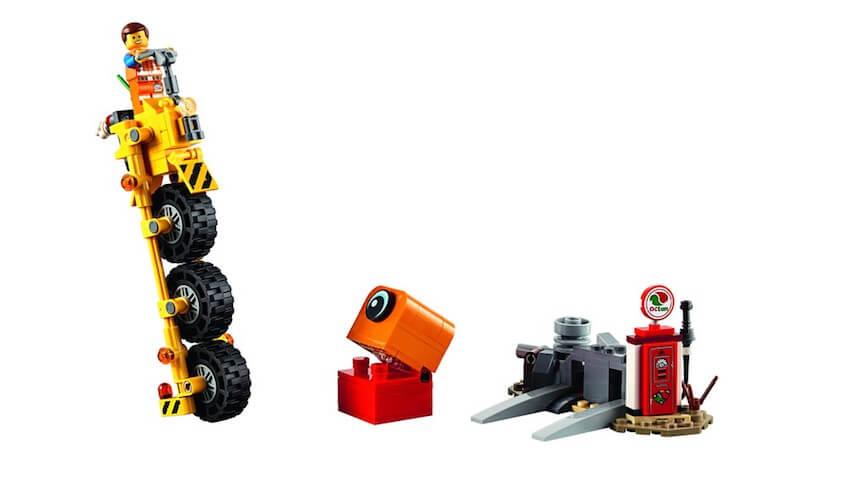 Contenido del Set LEGO Movie Triciclo de Emmet LEGO Película 2