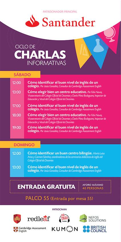 Charlas de la Feria de los Colegios de Madrid