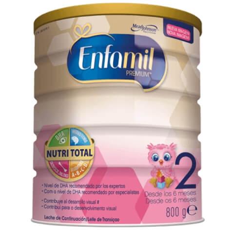 Leche de continuación Enfamil 2, para bebés a partir de 6 meses hasta un año