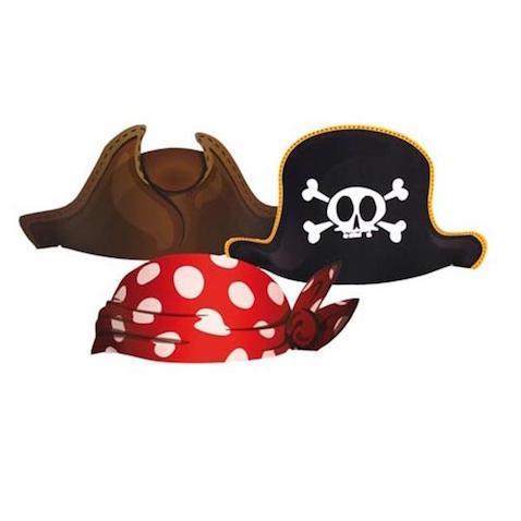 3 modelos de sombreros de piratas para disfraz casero de niño