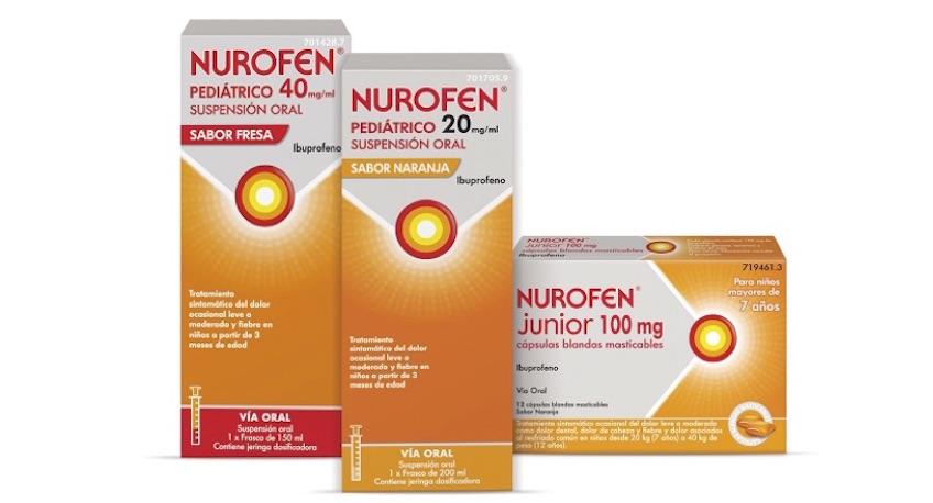 Nurofen Pediátrico ibuprofeno infantil para niños de 2 años