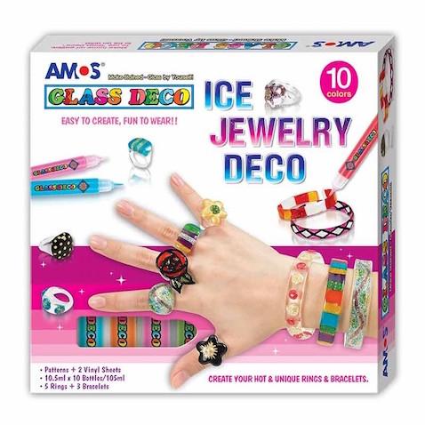 Kit completo para diseñar joyas con pintura para cristal Glass Deco