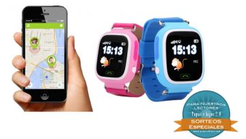 ¡Sorteamos 2 relojes inteligentes para niñ@s con GPS!