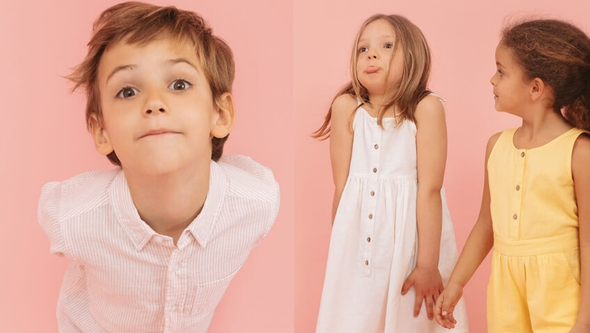 zippy prendas lino para niños primavera verano
