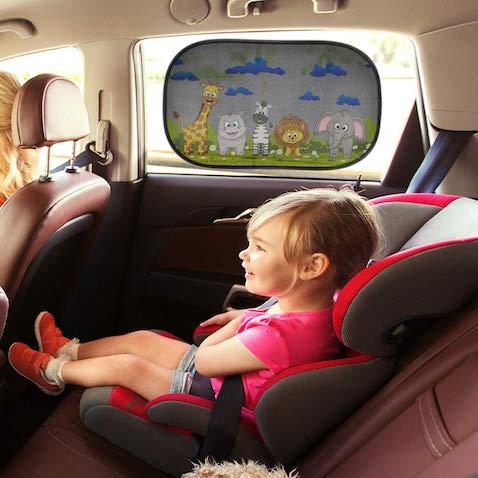 Parasol coche infantil animales con protección UV