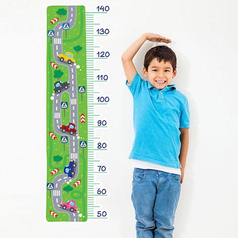 Medidor infantil adhesivo Coches en carretera