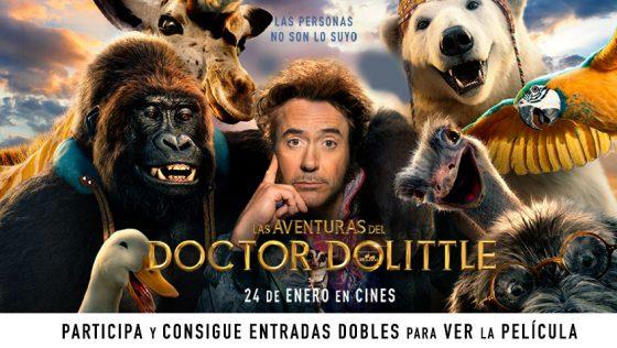 ¡Sorteo de entradas para la película Las Aventuras del Doctor Dolittle!