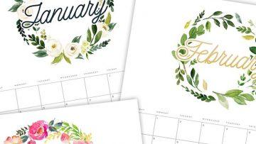 Calendarios del 2021 para imprimir y organizar las actividades de la familia