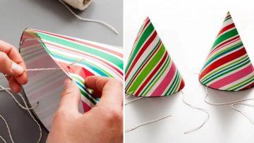 Ideas para reciclar el papel de regalo de la Navidad