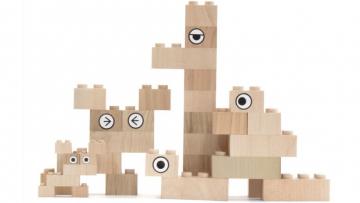 Mokulock bloques de construcciones sostenibles hechos de madera